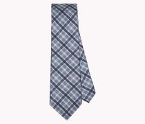 Karierte Krawatte aus Baumwoll-Seide-Mix
