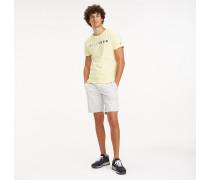 Baumwoll-T-Shirt mit mehrfarbigem Logo