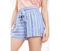 Shorts mit Bindeband an der Taille