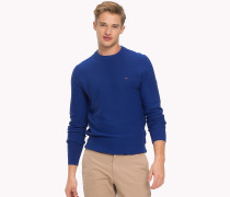 Pullover aus Baumwollmix mit Rundhalsausschnitt