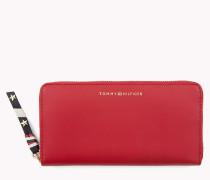 Leder-Brieftasche mit Reißverschluss