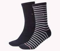 Gestreifte Socken im Doppelpack