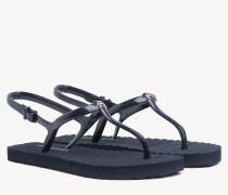 Flache Strand-Sandale mit Riemen