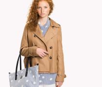 Kurzer Trenchcoat aus Baumwolle