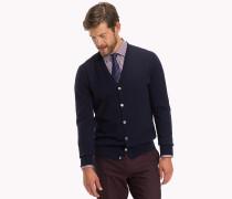 Luxus-Wollcardigan mit V-Ausschnitt