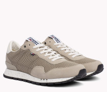Panelled Mesh Trainers