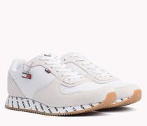 Sneaker aus Wildleder-Mix mit Kontrastbahnen