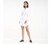 Langärmliges Hemdkleid aus Bio-Baumwolle