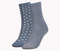Doppelpack Socken mit Pünktchen