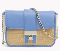 Mini-Handtasche mit Umschlag aus Bast