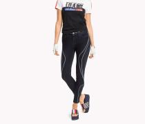 Gigi Hadid Jeans im Motosport-Style
