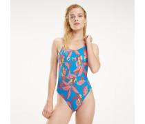 Badeanzug mit tropischem Print