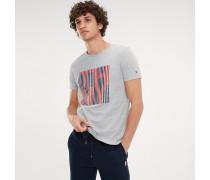 T-Shirt aus Bio-Baumwolle mit Streifen-Logo