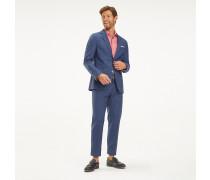 Karierter Slim Fit Anzug aus Schurwolle