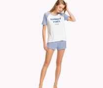 Gestreiftes Pyjama-Set aus Baumwolljersey