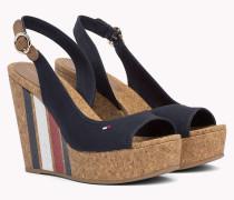 Sandale mit Keilabsatz und Tommy-Streifen