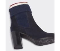 Wildleder-Stiefelette mit kuscheliger Socke