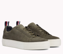 Suede Cupsole Lace-Up Trainers