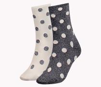 Doppelpack Socken mit glitzernden Pünktchen