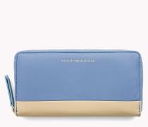 Brieftasche aus Glattleder mit umlaufendem Reißverschluss