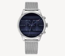Dualzeit-Uhr aus Edelstahl