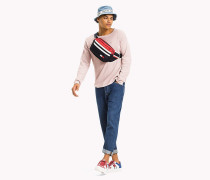 Relaxed Fit Pullover aus Baumwolle in Waffelstrick