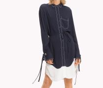 Hemdkleid mit kontrastierender Ziernaht
