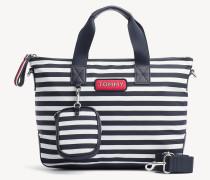 Kleine Tote-Bag mit Varsity-Streifen