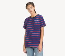 Boyfriend Fit T-Shirt mit Streifen