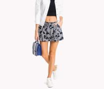 Shorts mit Blumenmuster und Vichy-Karos