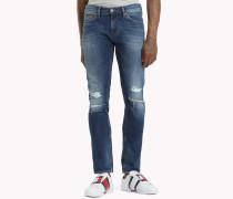 Scanton Slim Fit Jeans im Used Look