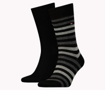 TH MEN DUO STRIPE SOCK 2P