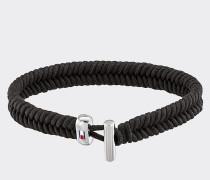 Schwarzes Armband aus Wachsschnur