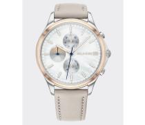Chronograph-Armbanduhr mit Perlmutt