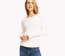 Pullover aus Bio-Baumwolle mit Zopfmuster