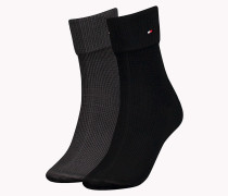 Socken mit Krempelbündchen im Doppelpack