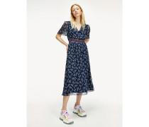 Rückenfreies Kurzarm-Kleid