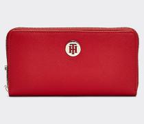 Große Brieftasche mit Monogramm-Emblem