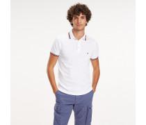 Slim Fit Poloshirt mit Tommy-Streifen