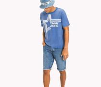 T-Shirt mit Stern-Logo im Retro-Look