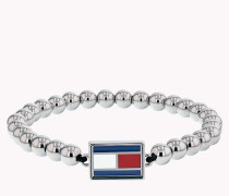 Stretch-Armband aus Metall mit Flag