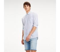 Gestreiftes Baumwoll-Hemd