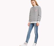 Gestreiftes Fleece-Sweatshirt