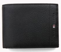 Aufklappbare Lederbrieftasche