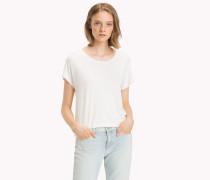 T-Shirt mit Bogenkantensaum