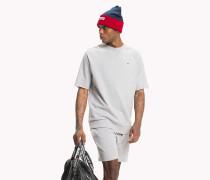 Kurzarm-Sweatshirt mit Rundhalsausschnitt