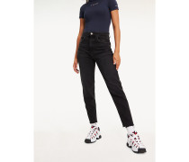 Tapered Leg Mom Fit Jeans