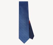 Seiden-Krawatte mit Monogramm-Print