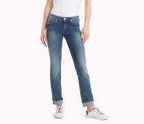 Straight Leg Fit Jeans mit Fade-Effekt