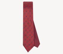 Bedruckte Krawatte aus reiner Seide